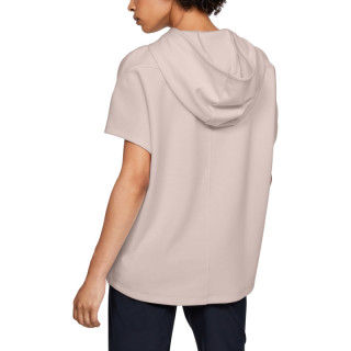 DOUBLE KNIT SS HOODED TUNIC