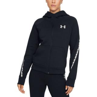 Women's UA Fleece Taped Wordmark Full Zip Hoodie