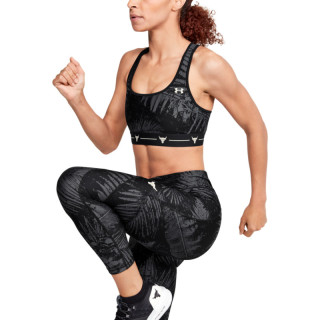 Women's UA PROJECT ROCK ARMOUR MID PRINTED CROSSBACK BRA