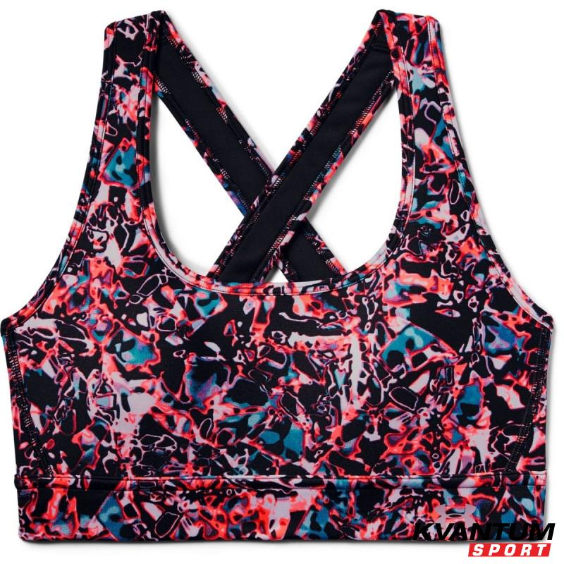 Women's UA Armour Mid Crossback Print Mash Up Sports Bra
