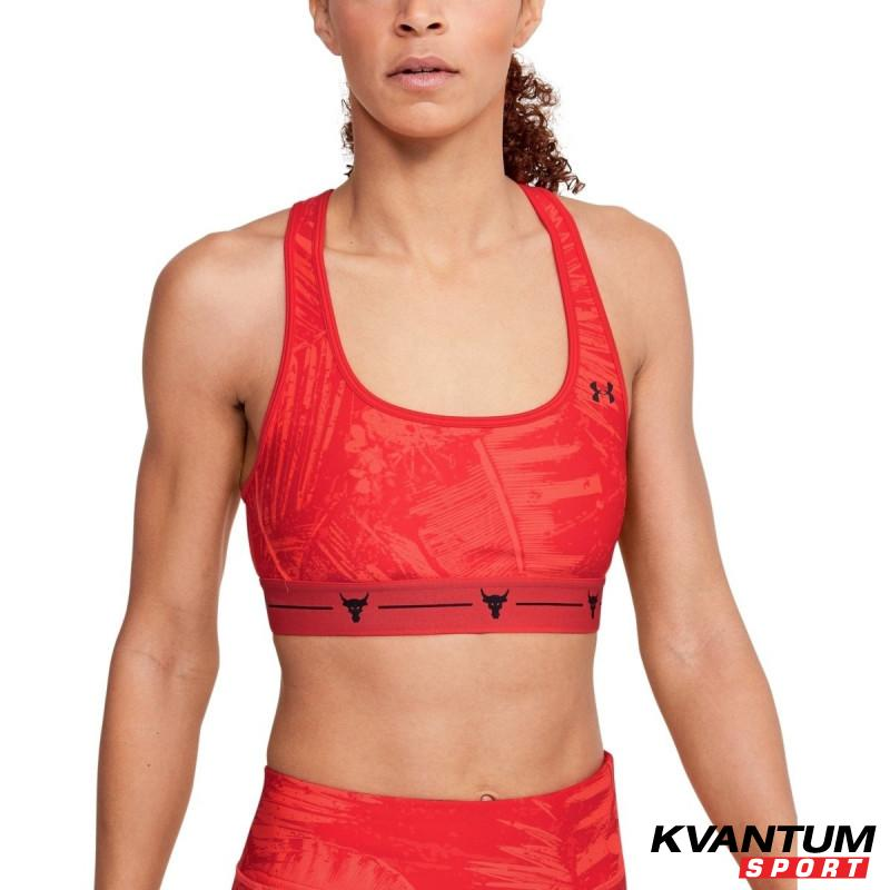 Women's Project Rock Armour Mid Crossback Printed Sports Bra